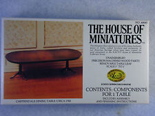 Vintage House of Miniatures Doll Furniture Chippendale Dining Table #40045 Xacto