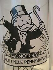 "Original Vintage 1996 McDonalds MONOPOLY Rich Uncle Pennybags Glass 5X3.75"" 257"