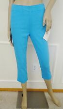Nwt Miraclebody Louise Slimming Straight Leg Cropped Jeans Legging Sz 2 Blue