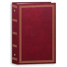 "3-ring pocket BURGUNDY album for 504 photos - 4""X6"" New"