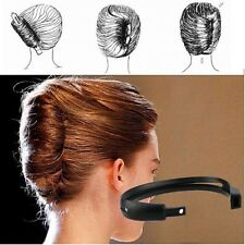 Salon Plastic French Hair Styling Donut Bun Clip Twist Maker Holder Tools 22.5cm
