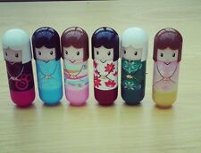 12 kimono doll lip balm gift gloss scented  lipstick girls party bag fillers
