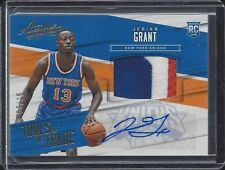 JERIAN GRANT 2015-16 ABSOLUTE TOOLS OF THE TRADE 4 CLR KNICKS PATCH AUTO RC /25