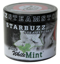 (1)Starbuzz Shisha Steam Stones 125g Resealable Jar - White Mint NoTobacco/Tar