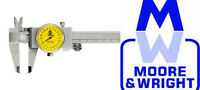 """MOORE AND WRIGHT 0-6"""" / 0-150MM DIAL CALIPER MW142-15 MYFORD"""