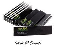 JASS SLIM BLACK Edition - Lot de 10 Carnets de 32 Feuilles à rouler