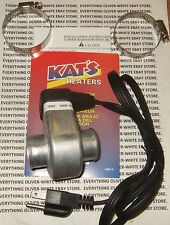 "LOWER COOLANT RADIATOR HOSE ENGINE BLOCK HEATER 1-1/4"" KAT'S BRAND 600W 110V"