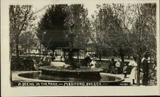 Medford OR A Scene in the Park c1910 Real Photo Postcard
