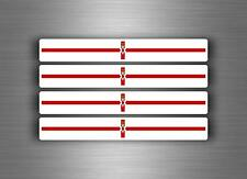 4x sticker decal car stripe motorcycle racing flag moto tuning northern ireland