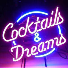 "New Cocktails And Dreams Neon Sign For Pub Bar 17""x14"""