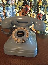 Vintage Style Grand Phone Flash Redial Retro Desk Phone Telephone Light Blue