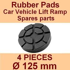 SET OF 4 PADS Ravaglioli 2 Post Car Lift Ramp Rubber Pads - 125mm -Made in Italy