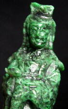 Superb MAW SIT SIT MAWSITSITJADE JADEITE QUAN YIN BUDDHA carving 305 ct NATURAL
