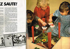 PUBLICITE ADVERTISING 054  1978  GAY-PLAY  jeux jouets  ALLEZ SAUTE ( 2 pages)