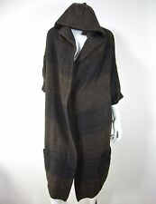 VINCE SHORT SLEEVE CARDIGAN HOODED SWEATER SIZE M, BROWN