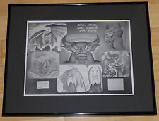 WALT DISNEY FANTASIA CHERNABOG FRAMED 1939 ORIGINAL PRODUCTION MODEL SHEET