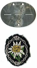 Erkennungsmarke Gebirgsjäger Ersatz Regiment 139 dog tag mountain troopers EKM
