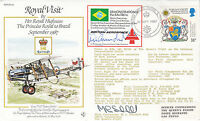Royal Visit by HRH Princess Royal to Brazil Double Signed Special