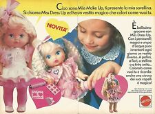 X1431 Miss Make Up - Miss Dress Up - Mattel - Pubblicità del 1989 - Vintage ad