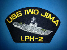 Vintage 1990's US Navy USS Iwo Jima LPH-2 Iron On Jacket Hat Patch Crest 151