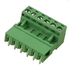 10sets 2EDG 6Pin Plug-in Screw Terminal Block Connector 5.08mm Pitch Right Angle