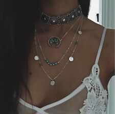 1PC New Bohemian Ethnic Necklace Silver Turquoise Hippie Boho Festival Jewelry