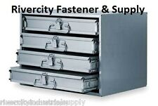 Metal 24 Hole Storage Tray / Cabinet And Slide Rack With Four Drawers Nut & Bolt