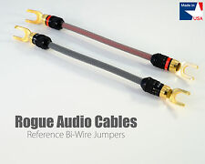 ROGUE Audio Cables Reference Bi-Wire Jumpers Pair 10ga HANDMADE IN THE USA