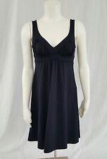 Susana Monaco Dress Small Blue Empire Waist Tank Sleeveless Nylon Lycra