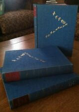 THE WATERFOWL OF THE WORLD, 3 Vol. Set 1954 Jean Delacour 1 Lib. Cancel