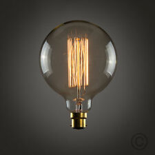 Vintage Industrial Filament Light Bulbs Squirrel Cage Antique Style B22-60W G95