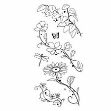 INKADINKADO clear cling stamps BEAUTY STEMS New for Card making & stamping