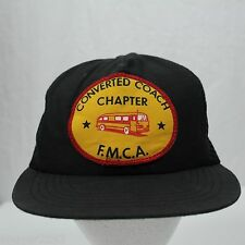 Vintage Converted Coach Chapter - FMCA Bus - Trucker Snapback Hat Cap - USA