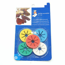 1 Set Of 10pcs Sock Ring Holders Stocking Clip Locks Washing Sorter With 5 Color