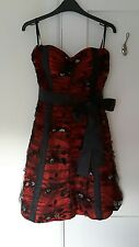Gorgeous Black & Red Net Strapless Dress from Nazz Collection - Size 8 - BNWOT!!