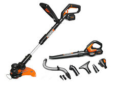 WG924.4 WORX 32V MaxLithium Combo: 3-in-1Grass Trimmer + Blower w/2 Batteries