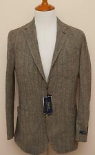 NEW Polo Ralph Lauren Wool Blend Gray Herringbone Sportcoat Blazer Jacket 44R