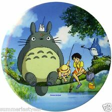 "My Neighbor Totoro ""Fishing At The Pond"" Pin Back Button 3"" Free Shipping"