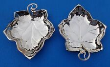 New listing Tray Candy Dish Silver Plated Leaf Shaped 3 Footed handled