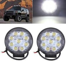2PCS 27W Phare Feux Travail 9LED Spot Floodlight Projecteur Road Auto VTT Camion