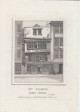 1793 A4 Engraving of Mrs Salmon's Wax Work Museum in Fleet Street London