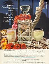 Publicité Advertising 1963  Le Punch et le Daiquiri des tropiques RHUM