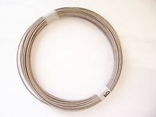 "304 Stainless Steel Wire Rope Cable, 1/16"", 7x7, 100 ft coil"