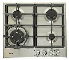 Teknix 60cm Gas Hob with Wok Burner & Cast iron pan supports - 2 Year Warranty