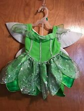 Disney Infant Baby Halloween Girls Fairy Costume 3-6 Months Green Fabric