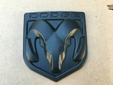 NEW DODGE MATTE BLACK 3M EMBLEM HOOD OR TRUNK TAILGATE LOGO FENDERS BADGE