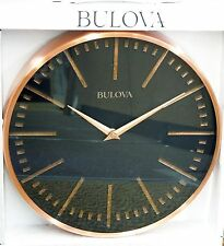 "BULOVA- COPPER DECORATIVE METAL  12.5 "" WALL CLOCK C4811"