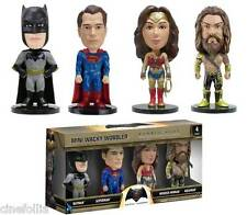 Set 4 Mini Bobble-Head Batman v Superman DC Comics Wacky Wobbler by Funko