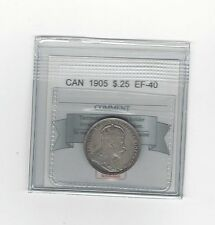 **1905**, Coin Mart Graded Canadian, 25 Cent, **EF-40**