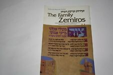The Family Zemiros: Grace After Meals with Sabbath Song
